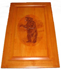 Cabinet Door - Grizzly Bear